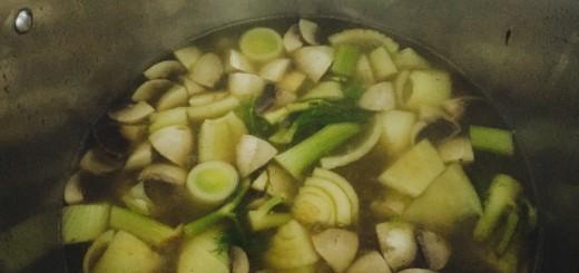 Feniklovo-šampiňónová polievka