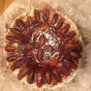 Datlový cheesecake
